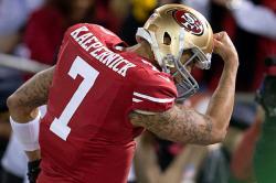 Quarterback Colin Kaepernick